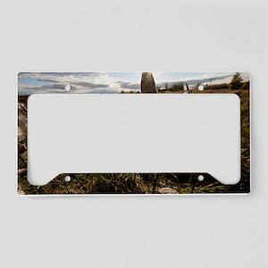 Autumn Milkweed License Plate Holder