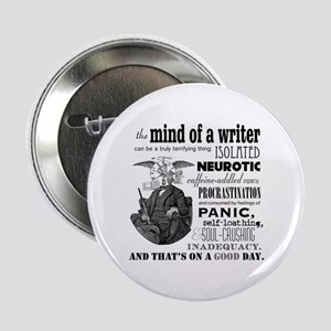 "The Mind Of A Writer 2.25&Quot; 2.25"" Button"