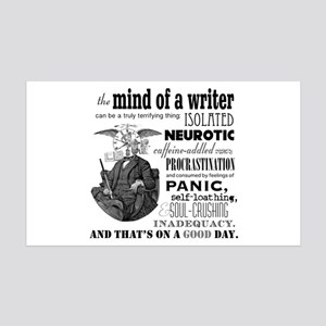 The Mind Of A Writer 35x21 Wall Decal