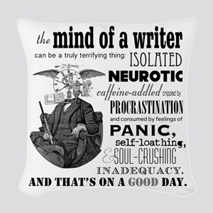 The Mind Of A Writer Woven Throw Pillow