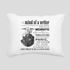 The Mind of a Writer Rectangular Canvas Pillow