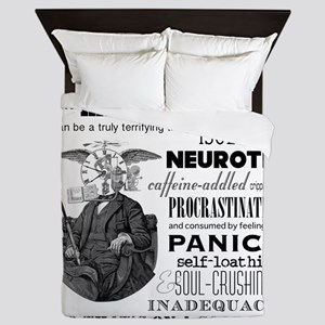 The Mind of a Writer Queen Duvet