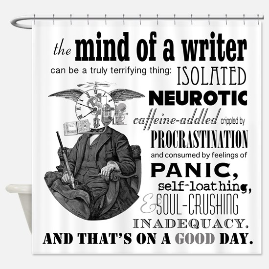 The Mind Of A Writer Shower Curtain