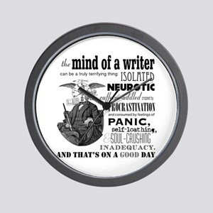 The Mind Of A Writer Wall Clock
