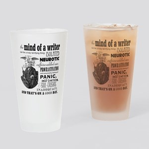 The Mind of a Writer Drinking Glass