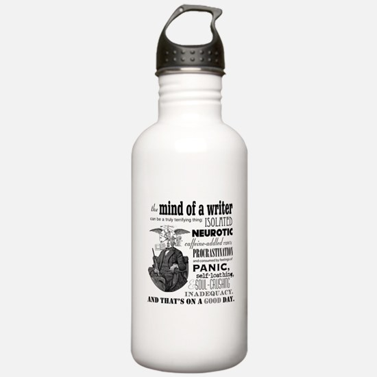 The Mind of a Writer Water Bottle