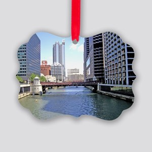Downtown Chicago Waterscape Ornament