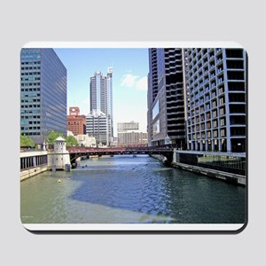 Downtown Chicago Waterscape Mousepad