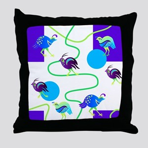 Quail Trail Throw Pillow