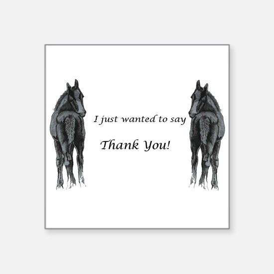 2 foals Thank You Sticker