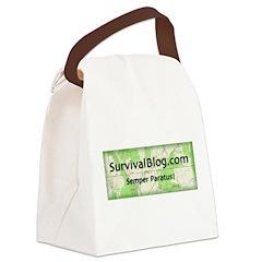 SurvivalBlog Canvas Lunch Bag
