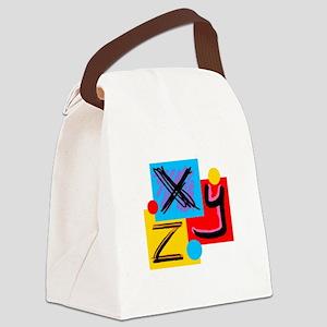 XYZ Canvas Lunch Bag