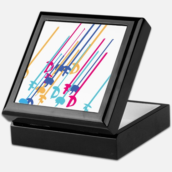 Sword salute in colour Keepsake Box