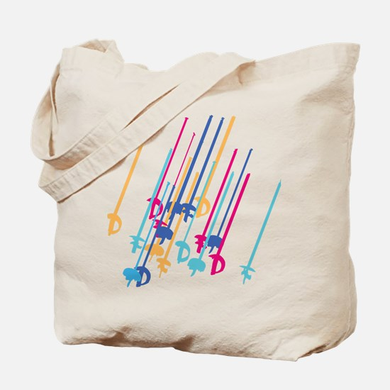Sword salute in colour Tote Bag