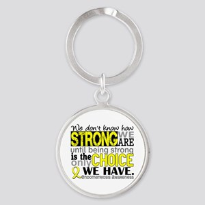 How Strong We Are Endometriosis Round Keychain
