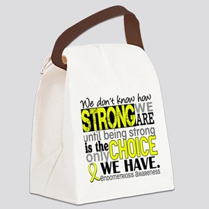 How Strong We Are Endometriosis Canvas Lunch Bag
