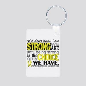How Strong We Are Endometr Aluminum Photo Keychain