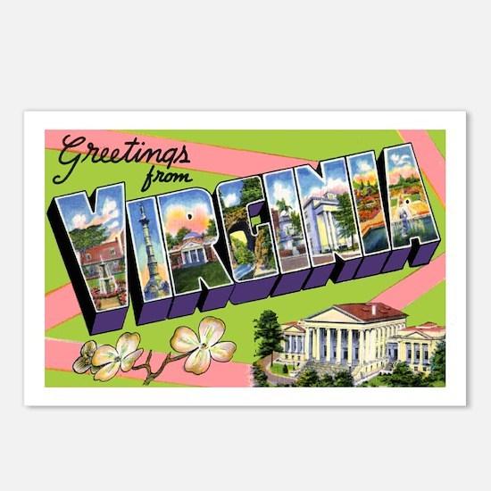 Virginia Greetings Postcards (Package of 8)