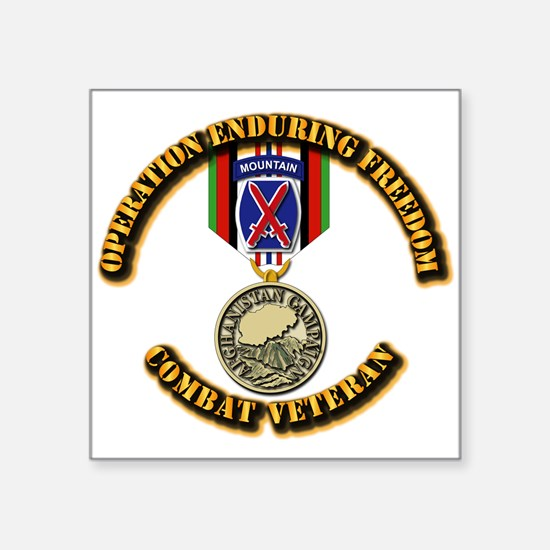 """Operation Enduring Freedom Square Sticker 3"""" x 3"""""""