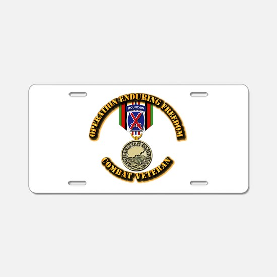 Operation Enduring Freedom Aluminum License Plate