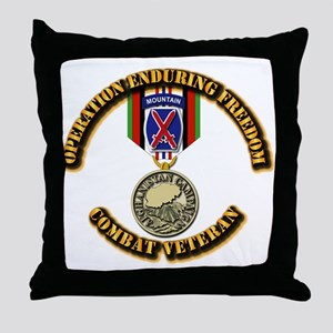 Operation Enduring Freedom - 10th Mtn Throw Pillow