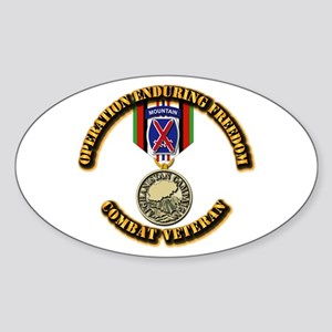 Operation Enduring Freedom - 10th M Sticker (Oval)
