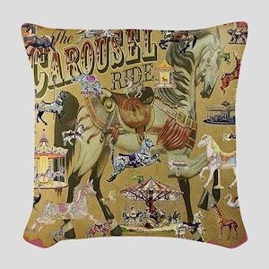 Carousel Woven Throw Pillow