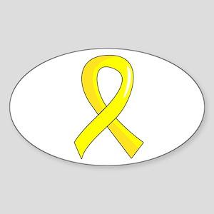 Awareness Ribbon 3 Endometriosis Sticker (Oval)