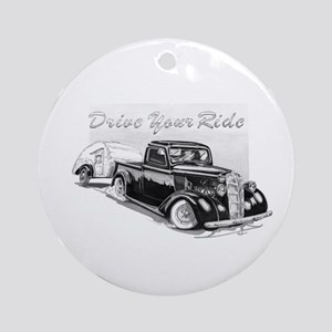 Drive Your Ride Ornament (Round)