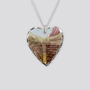 Labyrinth Necklace Heart Charm