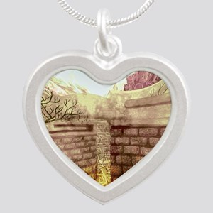 Labyrinth Silver Heart Necklace