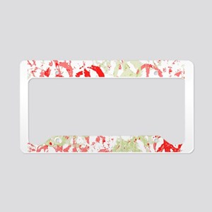 Warm Tone Peace Montage License Plate Holder