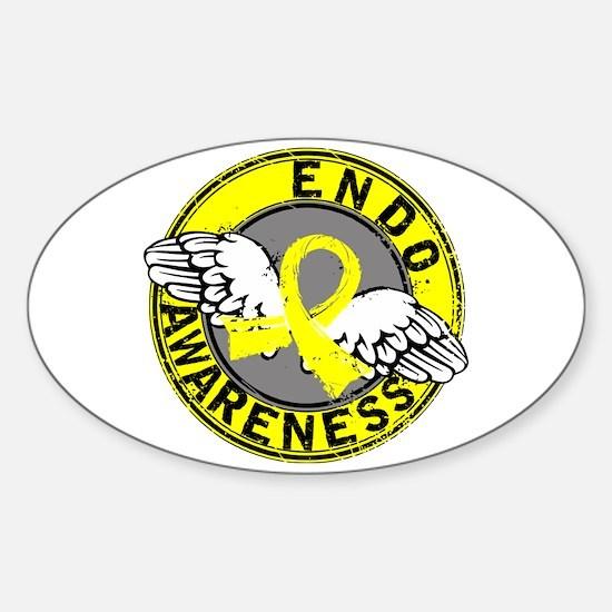 Awareness 14 Endometriosis Sticker (Oval)