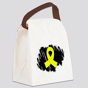 Scribble Ribbon Endometriosis Canvas Lunch Bag