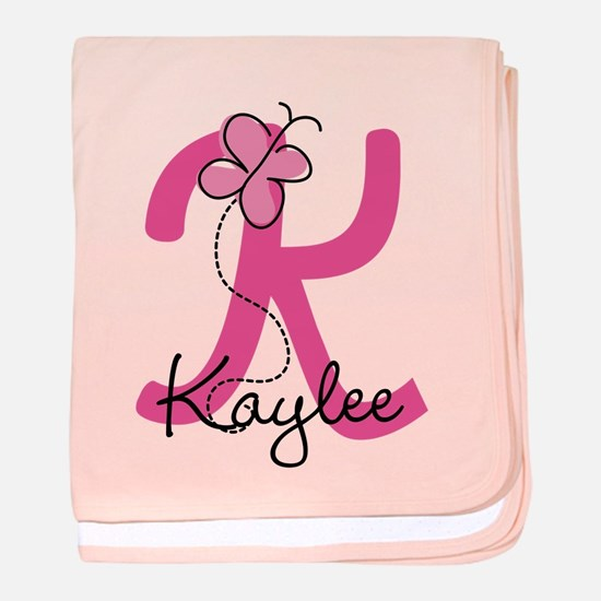 Personalized Monogram Letter K baby blanket