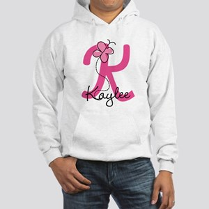 Personalized Monogram Letter K Hooded Sweatshirt