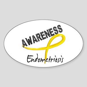 Awareness 3 Endometriosis Sticker (Oval)