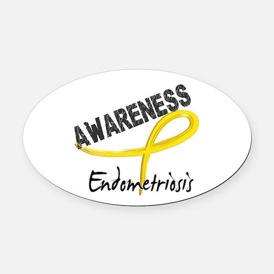 Awareness 3 Endometriosis Oval Car Magnet