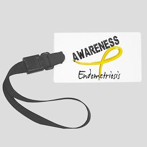 Awareness 3 Endometriosis Large Luggage Tag