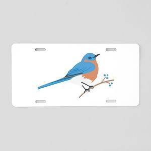 Eastern Bluebird Aluminum License Plate