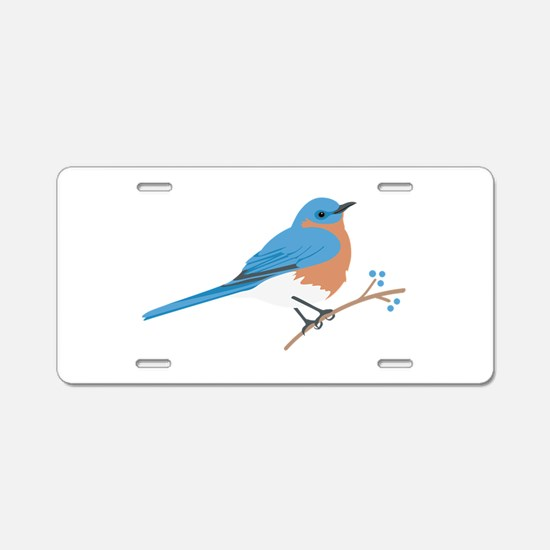 Eastern Bluebird Aluminum License Plate