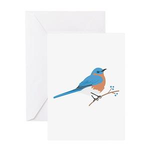Bluebird greeting cards cafepress m4hsunfo