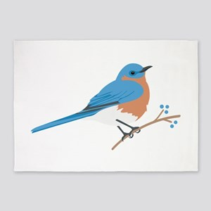 Eastern Bluebird 5'x7'Area Rug