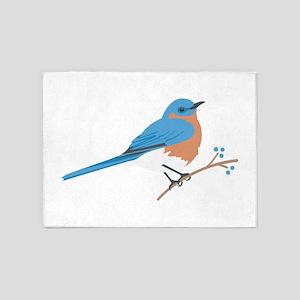 Eastern Bluebird 5'x7'Area Rug