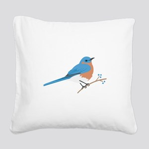 Eastern Bluebird Square Canvas Pillow