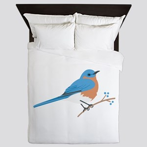 Eastern Bluebird Queen Duvet