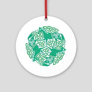 Celtic Irish Horses St Patrick's Ornament (Round)