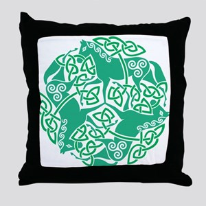 Celtic Irish Horses St Patrick's Day Throw Pillow