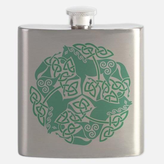 Celtic Irish Horses St Patrick's Day Flask