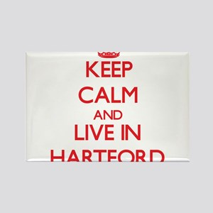 Keep Calm and Live in Hartford Magnets